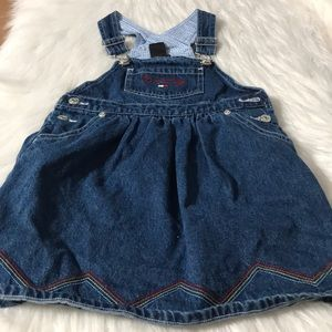 Tommy Hilfiger girl Jean coveralls dress size 4T
